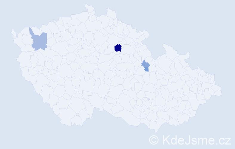 Příjmení: 'Lechmann', počet výskytů 7 v celé ČR