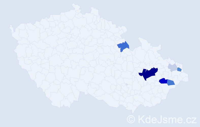 Příjmení: 'Garzina', počet výskytů 13 v celé ČR