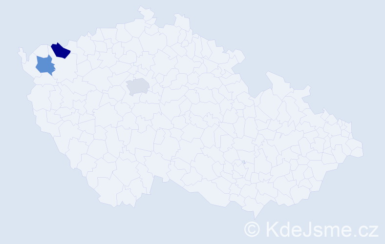 Příjmení: 'Andreanská', počet výskytů 3 v celé ČR