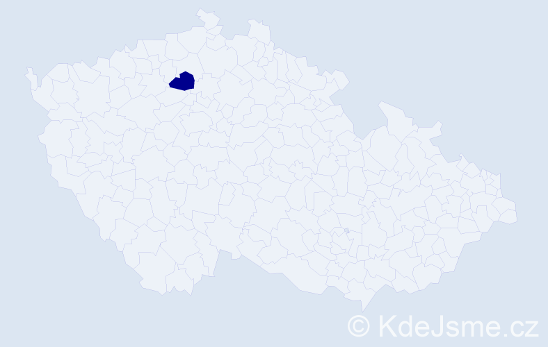 """Příjmení: '""""Čaňková Poláčková""""', počet výskytů 1 v celé ČR"""