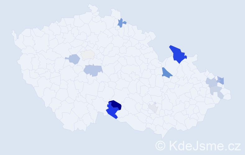 Příjmení: 'Falatová', počet výskytů 22 v celé ČR