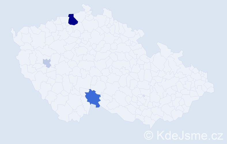 Příjmení: 'Gurguĺová', počet výskytů 10 v celé ČR
