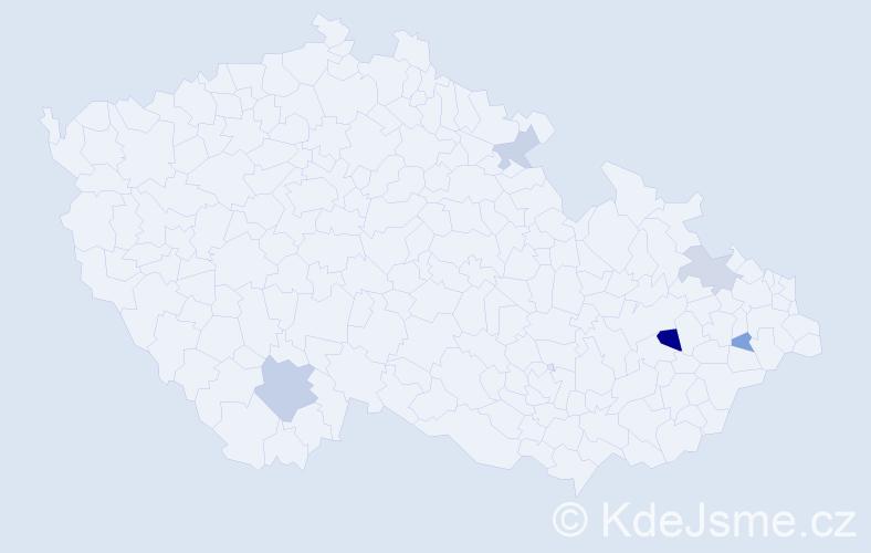 Příjmení: 'Grieger', počet výskytů 8 v celé ČR