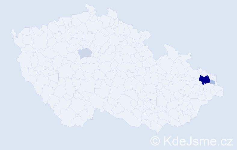 Příjmení: 'Ivanská', počet výskytů 28 v celé ČR