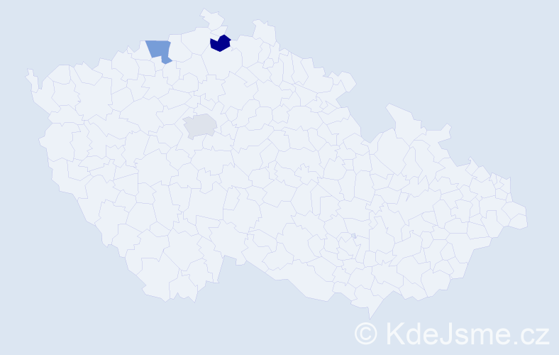 Příjmení: 'Ilčenková', počet výskytů 3 v celé ČR