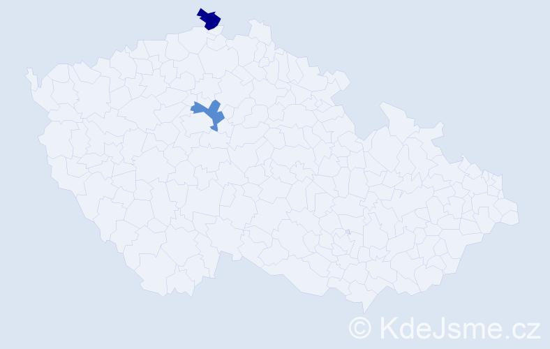 Příjmení: 'Javorovský', počet výskytů 4 v celé ČR