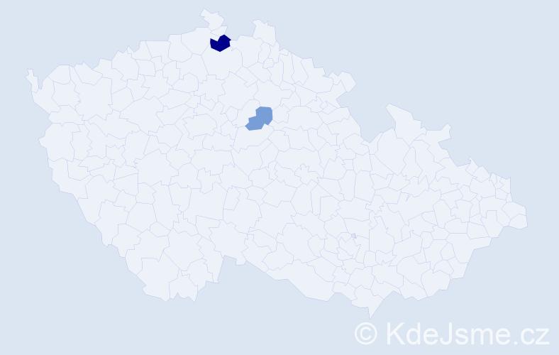 Příjmení: 'Jarovojová', počet výskytů 4 v celé ČR