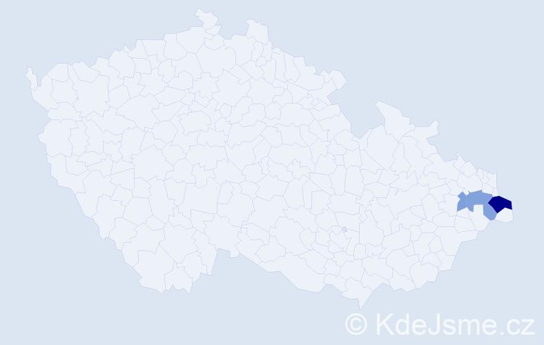 Příjmení: 'Krzemieň', počet výskytů 8 v celé ČR