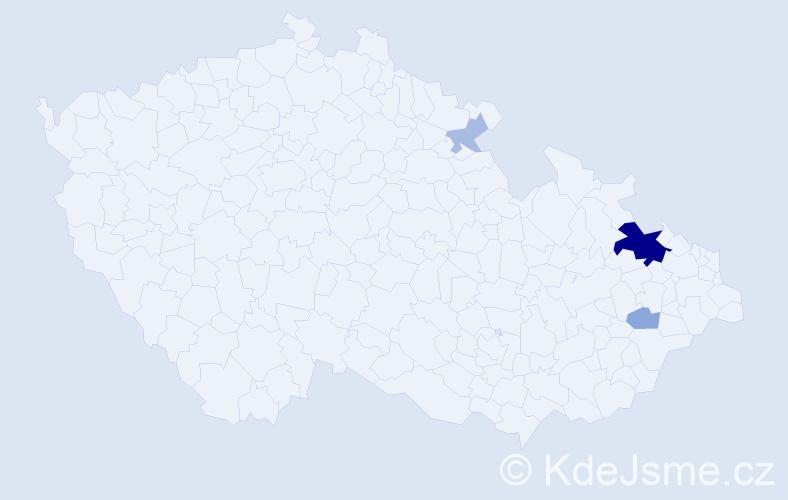 Příjmení: 'Jagusztyn', počet výskytů 11 v celé ČR