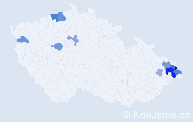 Příjmení: 'Jokel', počet výskytů 41 v celé ČR
