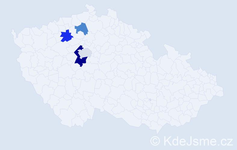Příjmení: 'Labač', počet výskytů 6 v celé ČR