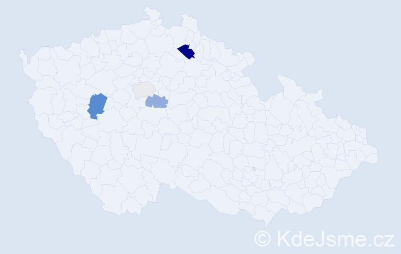 Příjmení: 'Lednej', počet výskytů 7 v celé ČR