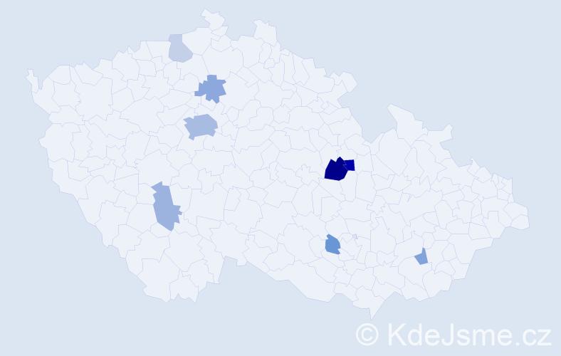 Příjmení: 'Hurková', počet výskytů 21 v celé ČR