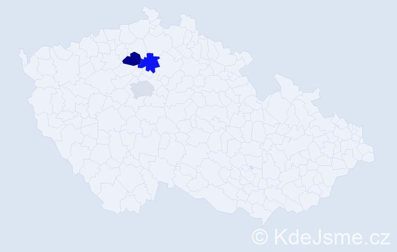 Příjmení: 'Bodnarčuk', počet výskytů 3 v celé ČR