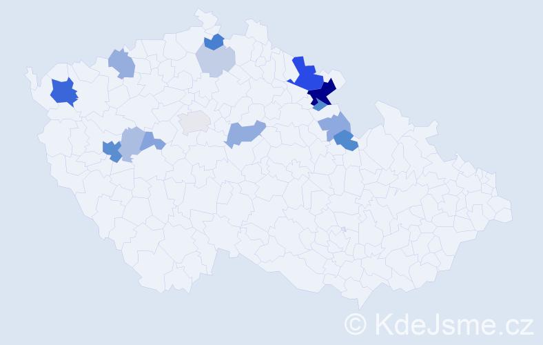 Příjmení: 'Faifer', počet výskytů 44 v celé ČR