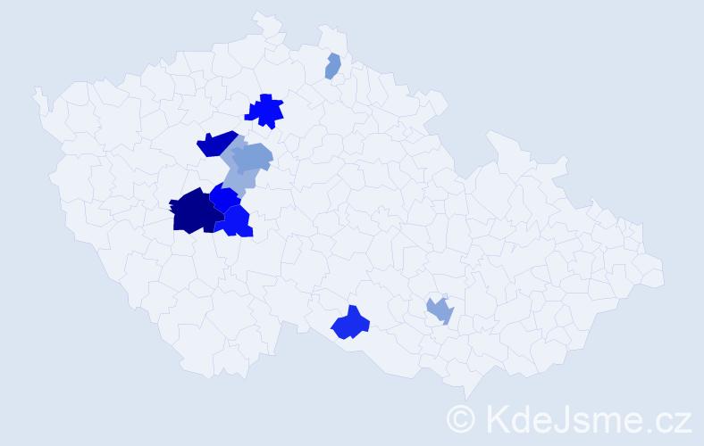 Příjmení: 'Hlinomaz', počet výskytů 30 v celé ČR