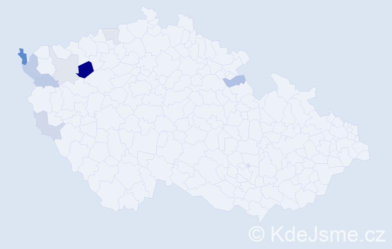 Příjmení: 'Klieberová', počet výskytů 16 v celé ČR