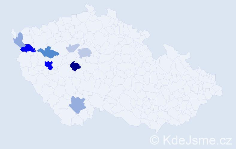 Příjmení: 'Erhardová', počet výskytů 26 v celé ČR