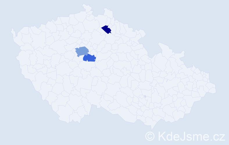 Příjmení: 'Bürgerstein', počet výskytů 8 v celé ČR