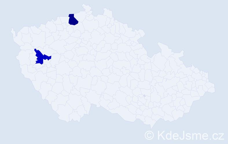 Příjmení: 'Hikischová', počet výskytů 9 v celé ČR
