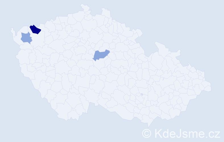 Příjmení: 'Ďanovský', počet výskytů 4 v celé ČR