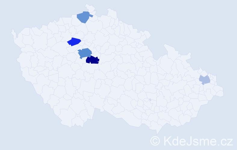 Příjmení: 'Issová', počet výskytů 16 v celé ČR