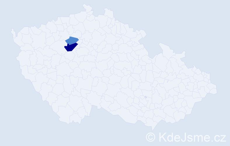 Příjmení: 'Jasinčuk', počet výskytů 6 v celé ČR
