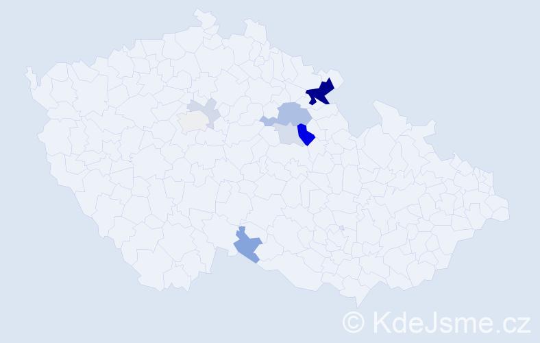 Příjmení: 'Erber', počet výskytů 23 v celé ČR