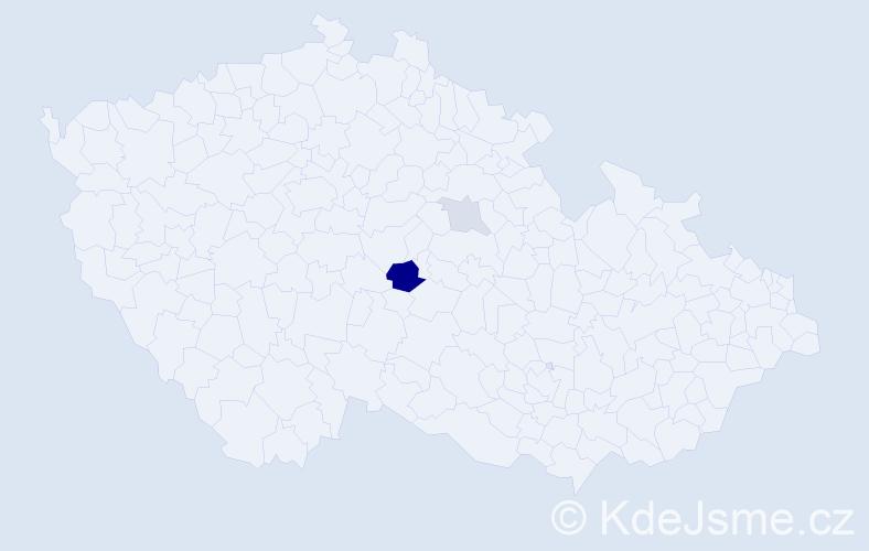 Příjmení: 'Horajs', počet výskytů 11 v celé ČR