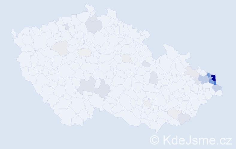 Příjmení: 'Foltyn', počet výskytů 181 v celé ČR