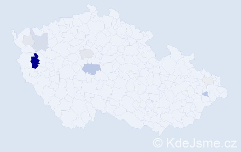 Příjmení: 'Denis', počet výskytů 24 v celé ČR