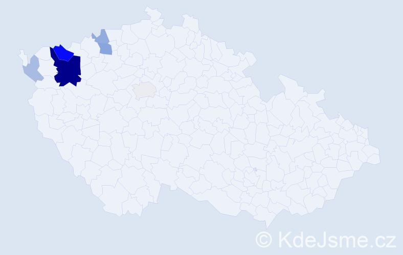 Příjmení: 'Harzerová', počet výskytů 18 v celé ČR