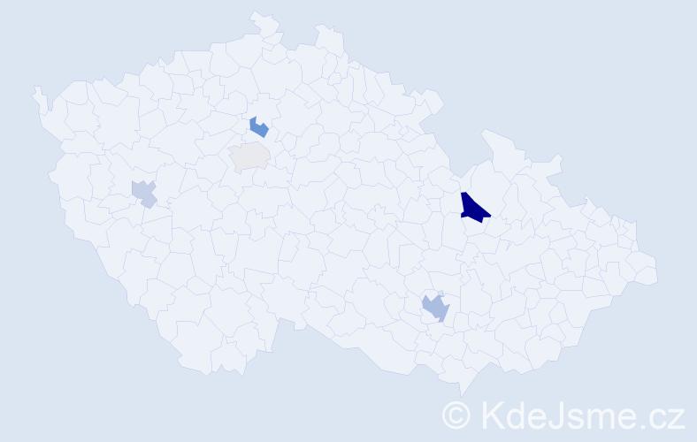 Příjmení: 'Lečková', počet výskytů 9 v celé ČR