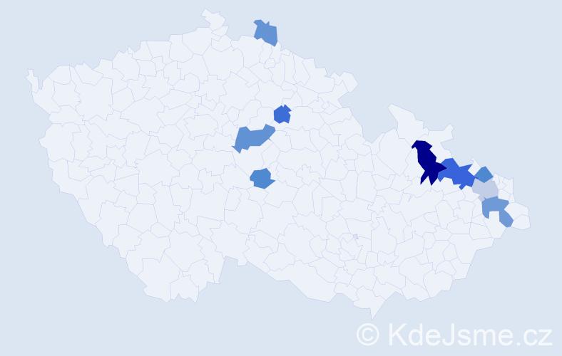 Příjmení: 'Gemsa', počet výskytů 22 v celé ČR