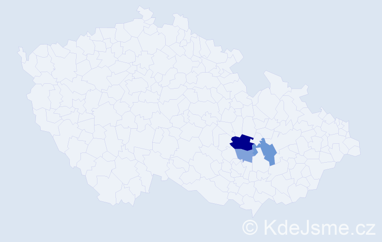 Příjmení: 'Blézl', počet výskytů 13 v celé ČR