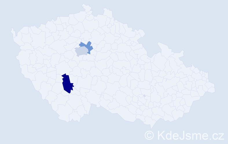 Příjmení: 'Civoch', počet výskytů 5 v celé ČR