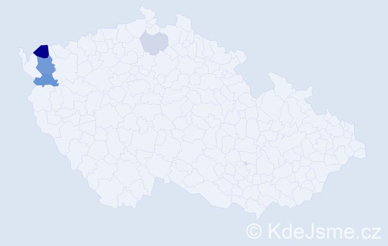 Příjmení: 'Erpsová', počet výskytů 11 v celé ČR