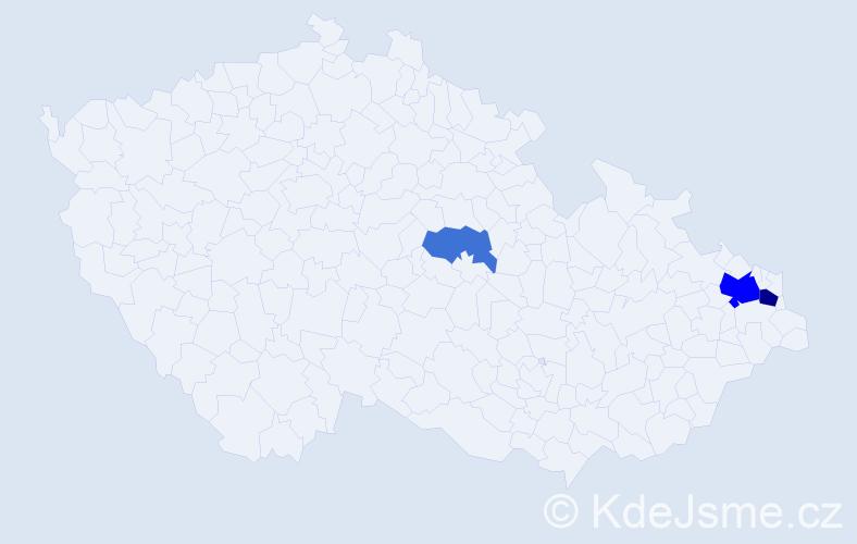 Příjmení: 'Babralová', počet výskytů 7 v celé ČR