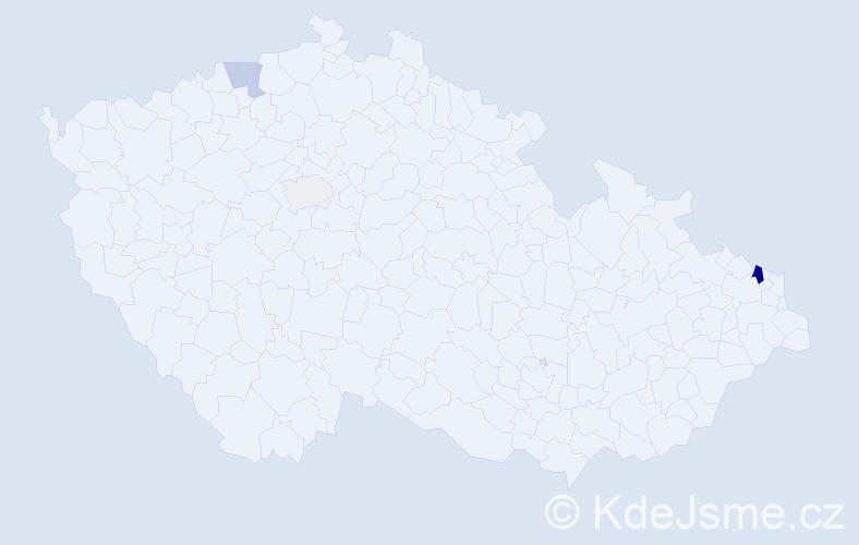Příjmení: 'Harvotová', počet výskytů 10 v celé ČR
