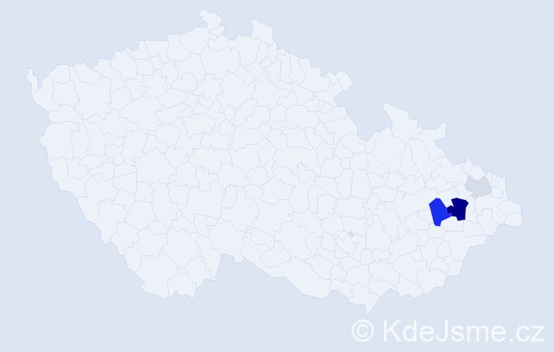 Příjmení: 'Augustini', počet výskytů 7 v celé ČR