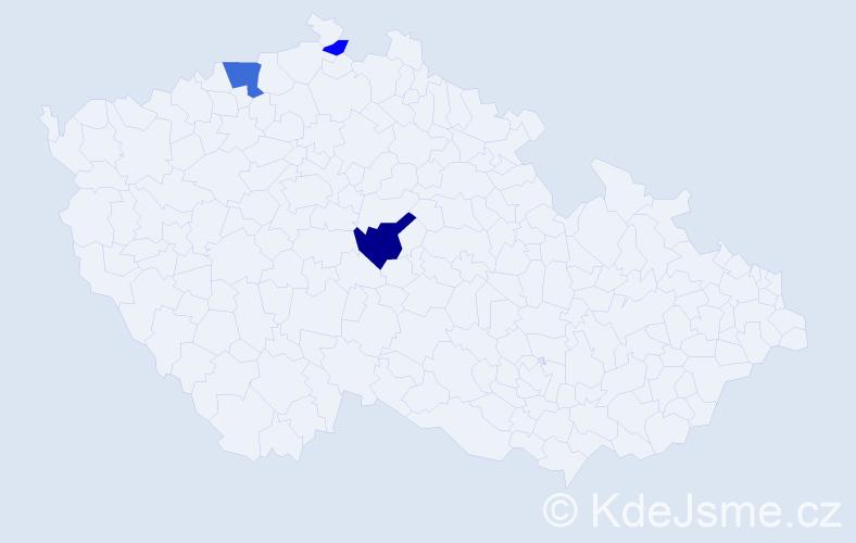 Příjmení: 'Kloosová', počet výskytů 7 v celé ČR