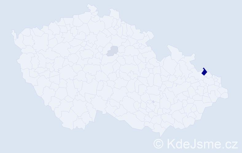 Příjmení: 'Thimel', počet výskytů 13 v celé ČR