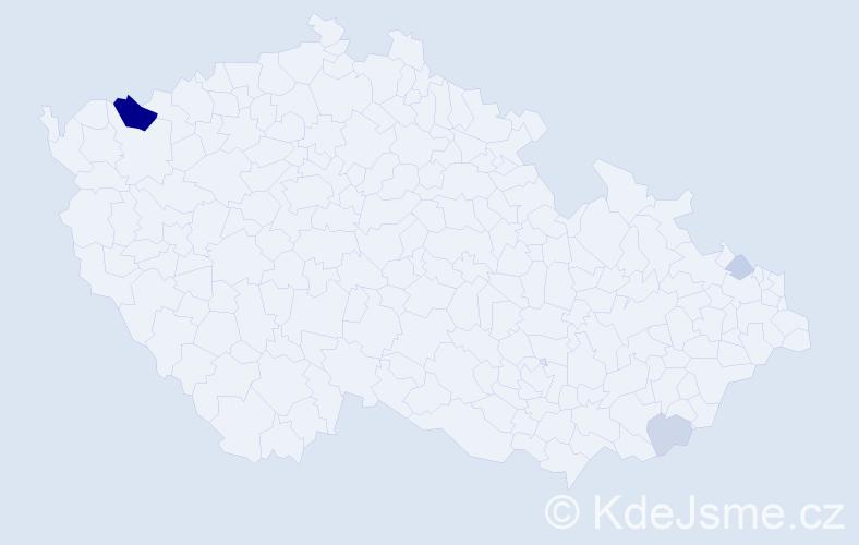 Příjmení: 'Ďuržová', počet výskytů 10 v celé ČR
