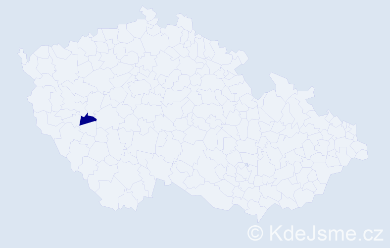 Příjmení: 'Cséfay', počet výskytů 1 v celé ČR