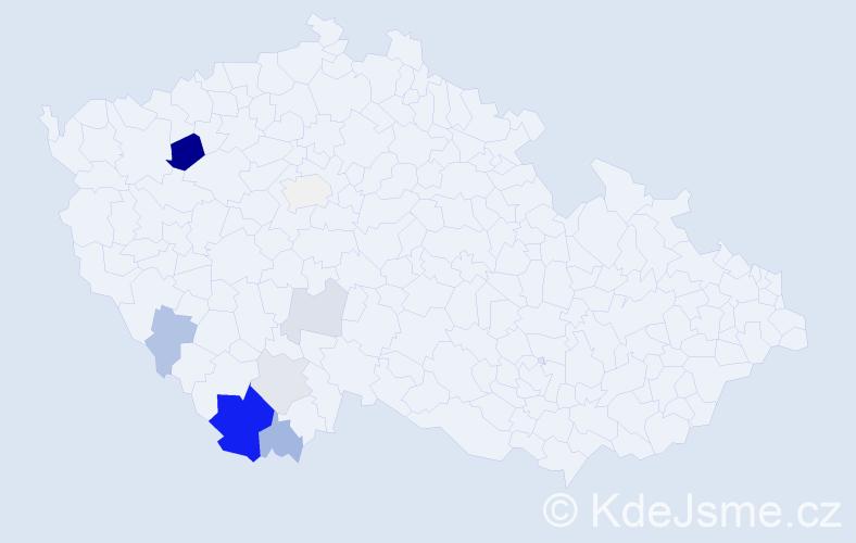 Příjmení: 'Churanová', počet výskytů 39 v celé ČR