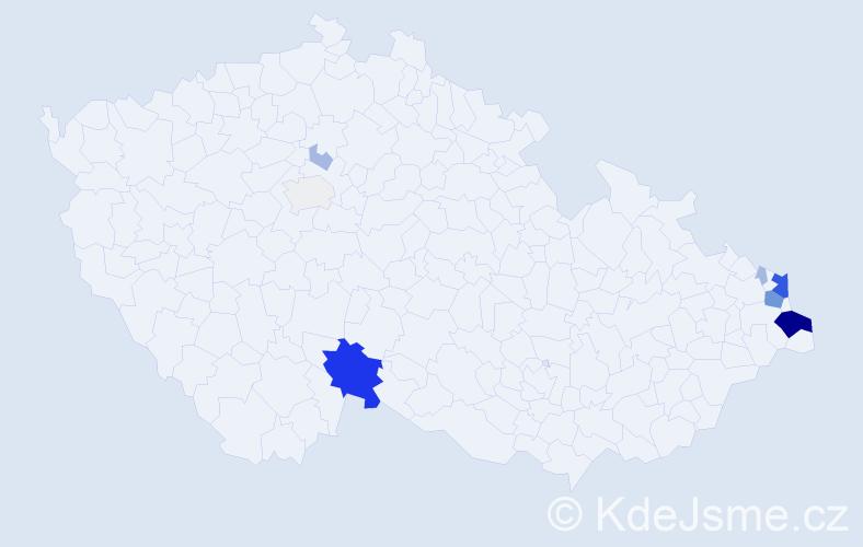 Příjmení: 'Hudziecová', počet výskytů 37 v celé ČR