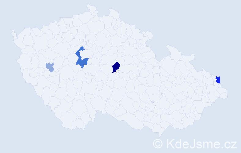Příjmení: 'Gleitz', počet výskytů 6 v celé ČR
