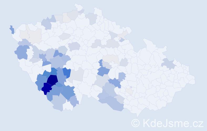 Příjmení: 'Bártík', počet výskytů 269 v celé ČR