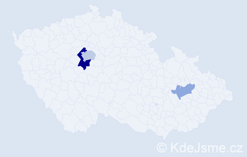 Příjmení: 'Crawley', počet výskytů 8 v celé ČR