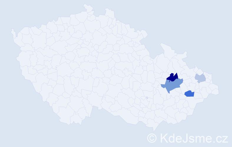Příjmení: 'Červienková', počet výskytů 9 v celé ČR